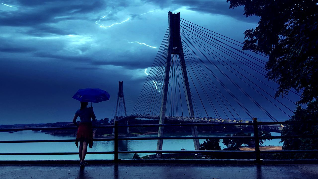 Barelang Bridge In Batam Island Indonesia_photography Stormy Weather