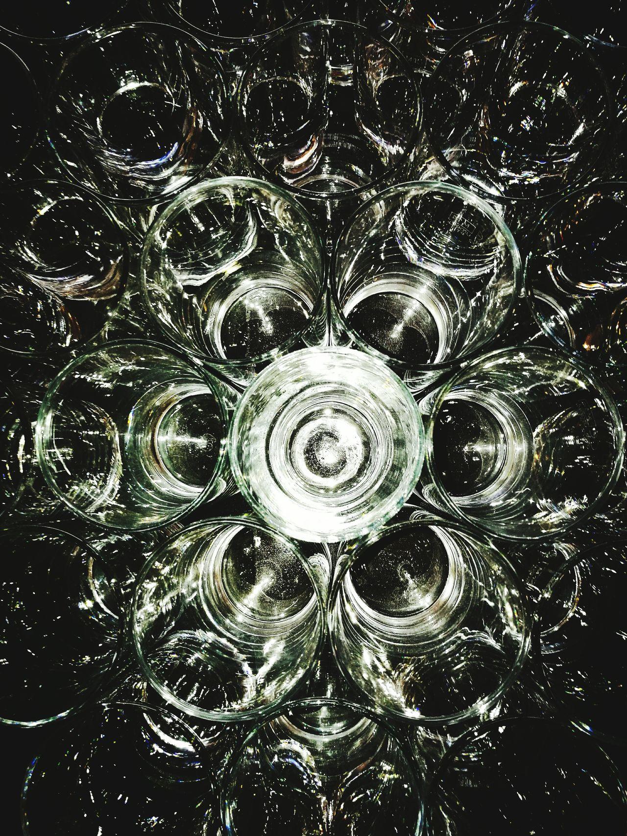 Glasses Reflect Illuminated Drink Cheers celebration