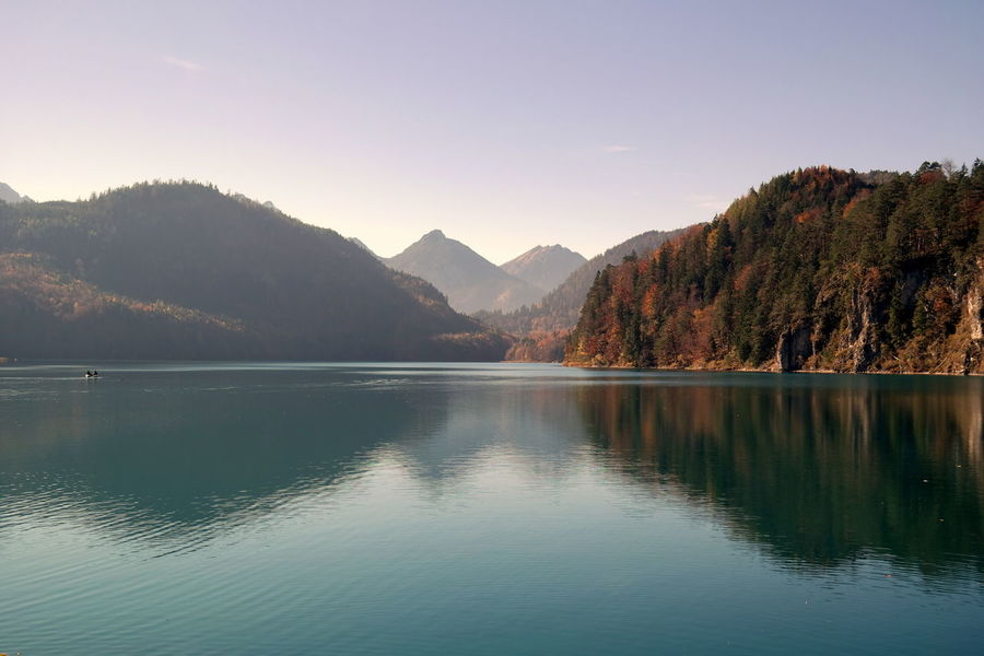 Alpsee Reflection Countryside Distant Exploring Forest Geometry Hill Horizontal Symmetry Lake Landscape Lush Foliage Majestic Mountain Mountain Range Non-urban Scene Outdoors Remote River Scenics Symmetry Tranquil Scene Tranquility Tree