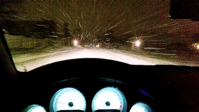 Snowing Flying The Millennium Falcon At Light Speed