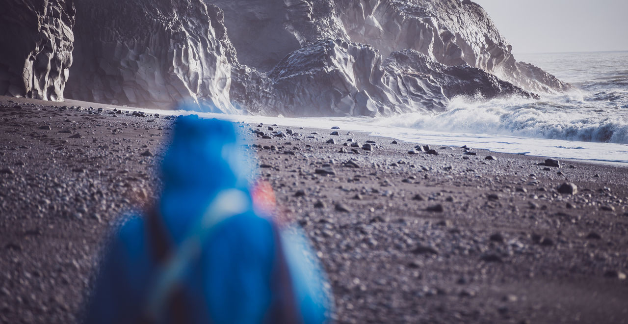 Exploring... Beach Blur Experience Exploring Friends Nature One Person Outdoors Rock Sea Travel Water Wave Waves Wet
