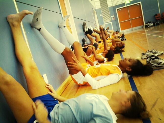 Volleyball ❤ After Match  Taking Photos Relaxing