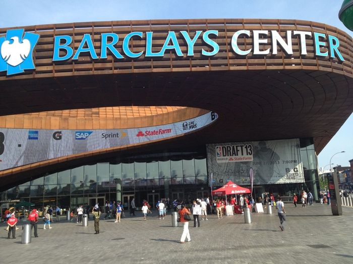 The beautiful Barclays center. The location of the NBA draft in 2013. Was a nice experience