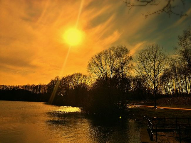 golden sky... Spring Clouds And Sky Lake Nature_collection