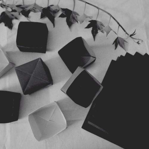 Making origami boxes Origami Traditional Japanese Boxes Masu Box EyeEm OpenEdit Relaxing EyeEm Best Shots - Black + White Leica D-lux Typ109