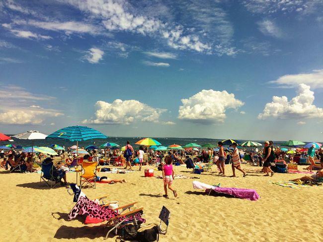 Atthebeach Greenwich, CT Tod's Point Sand Beach Beachumbrella