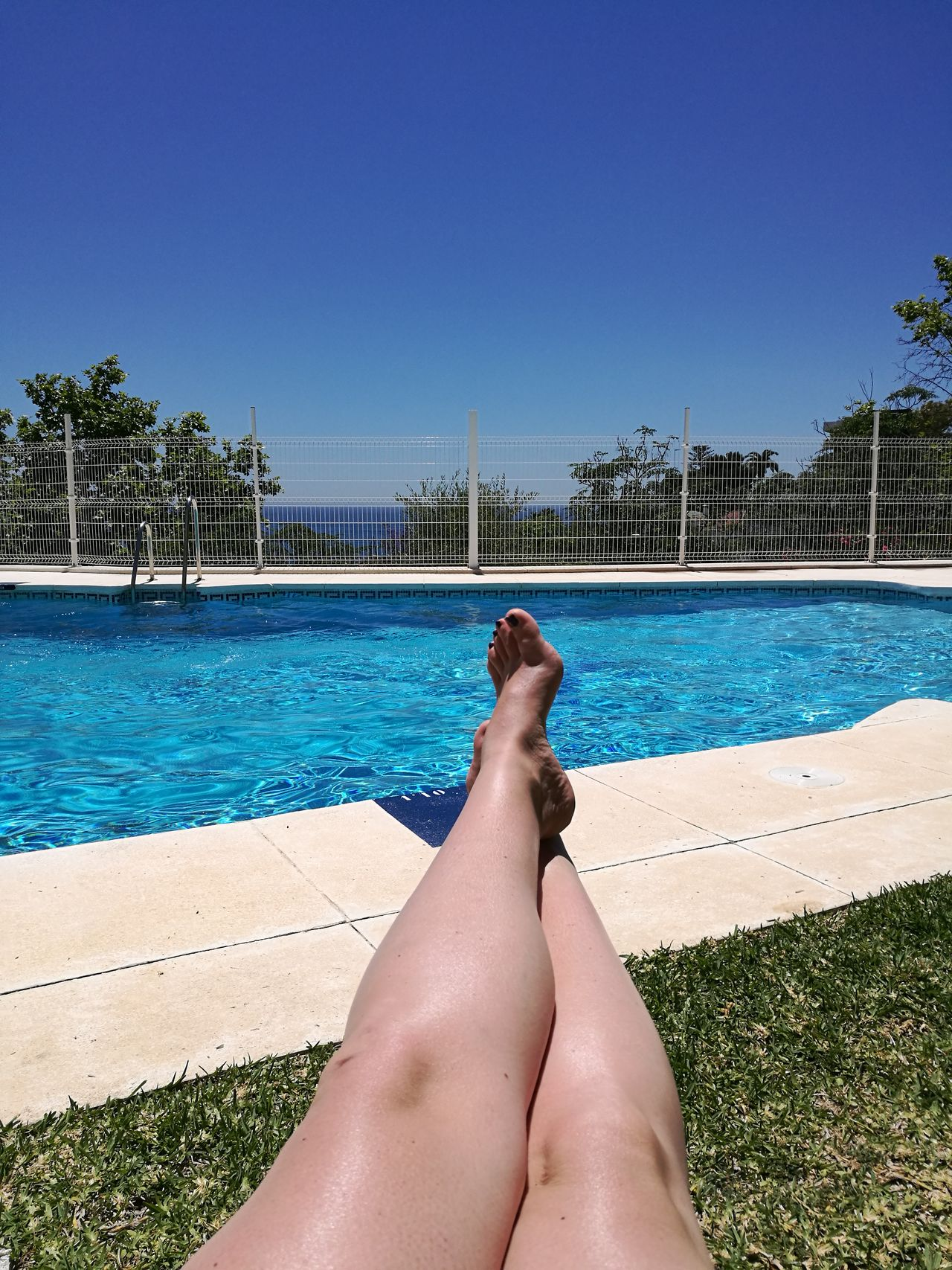 Human Leg Vacations Human Body Part Human Foot Barefoot Summer Relaxation Only Women Water Sunbathing One Person Sea Waterfront Poolside Pool One Woman Only