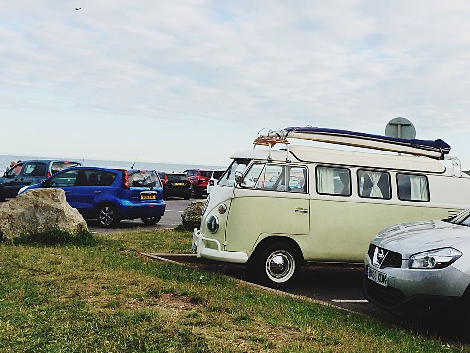 VW Camper Van Seaside Just Chillin' IPhoneography Out For Adventure Open Road Surfs Up
