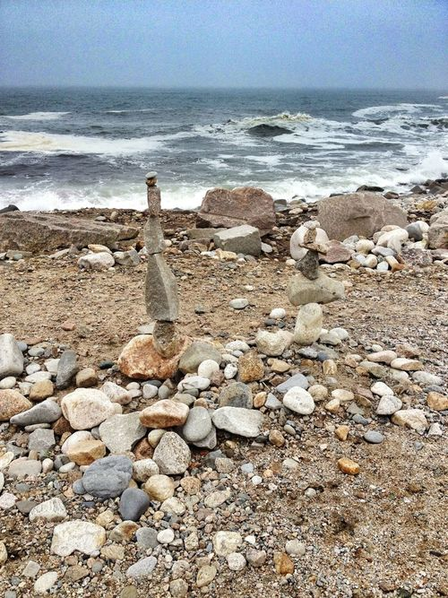 Stones At The Beach Standing Stones Water_collection