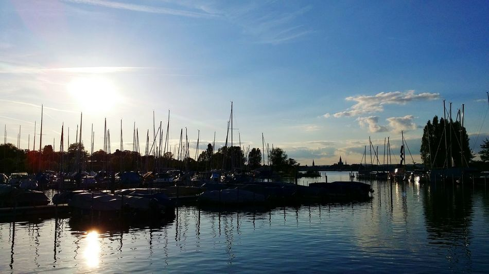 Taking Photos Relaxing Enjoying Life Lake View Kreuzlingen Switzerland Light And Shadows Lake Clouds Cloud And Sky Cloudy Skies Weather Weather Photography Landscape Landscapes Landscape_photography No People Transportation Mypointofview My Point Of View Tranquility Nopeople