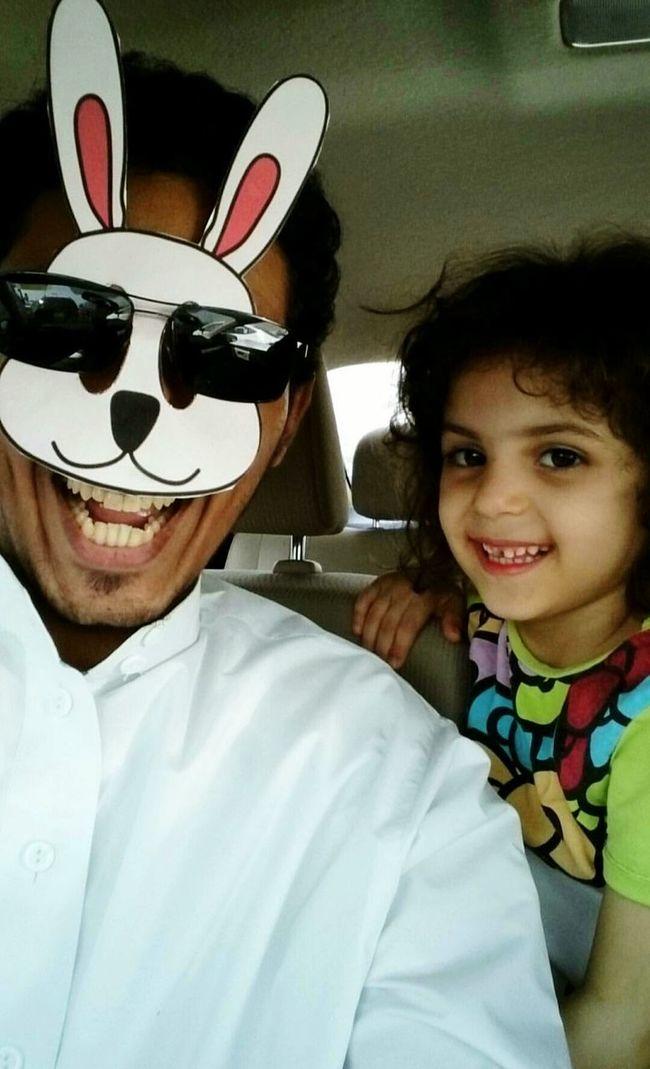 Just Having Fun Having Fun :) Having A Good Time My Niece My Niece ❤ My Nieces  My Niece And I  Waytohome Smile Smiling Rabbit Rabbit Ears