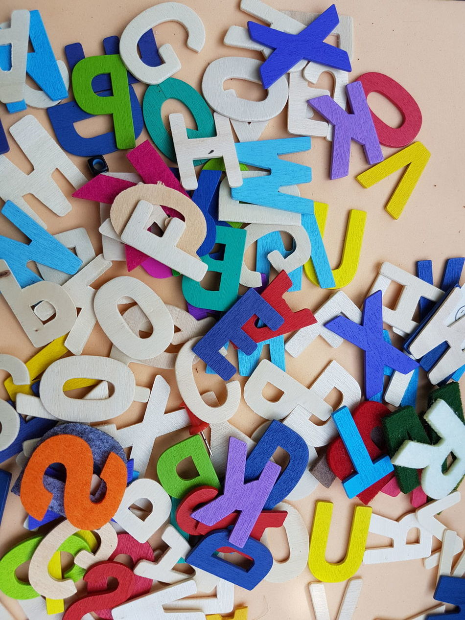 Multi Colored Text Indoors  No People Close-up Day Alphabet Alphabetography Colourful Wood - Material Assist Education Toy Learningisfun Kids Toys Many Colors Props For Pics. . Chaos And Order Daylight Teaching Abstract Photography Nobody Art A To Z Uppercase Letter