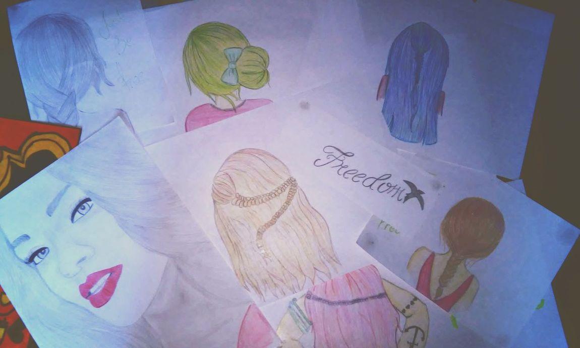?Art Beatiful Art Hair Drawing Draw EyeEm First Eyeem Photo Hairdrawing Colors Pencil Drawing