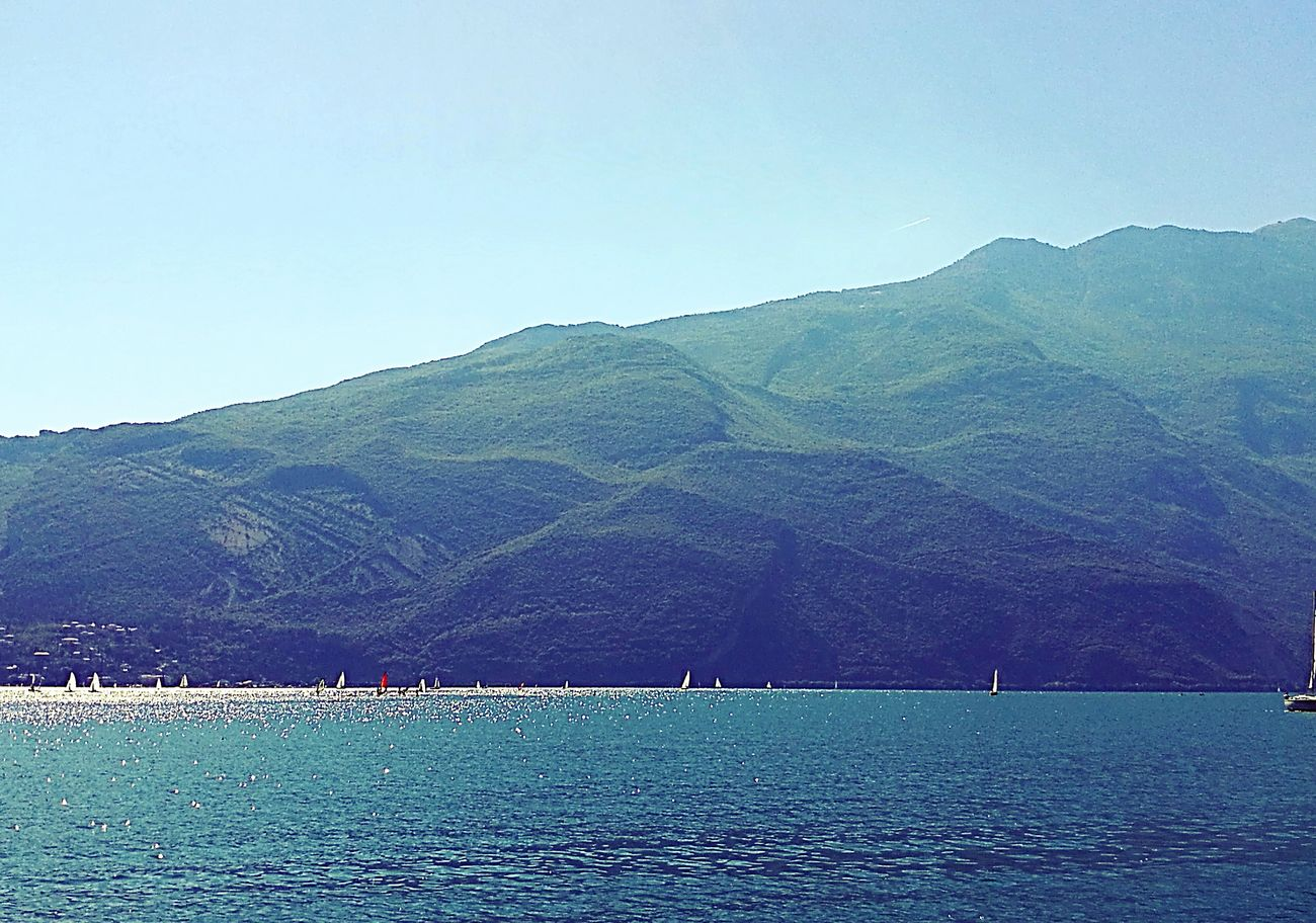 Blue Beauty In Nature Tranquil Scene Nature Tranquility Mountain Scenics Landscape Water No People Outdoors Day Sky Colour Photography Prospective Photographie  Panorama View Lake Garda Lake View Garda Lake Italy Gardasee Photography Nature Nautical Vessel Beauty In Nature