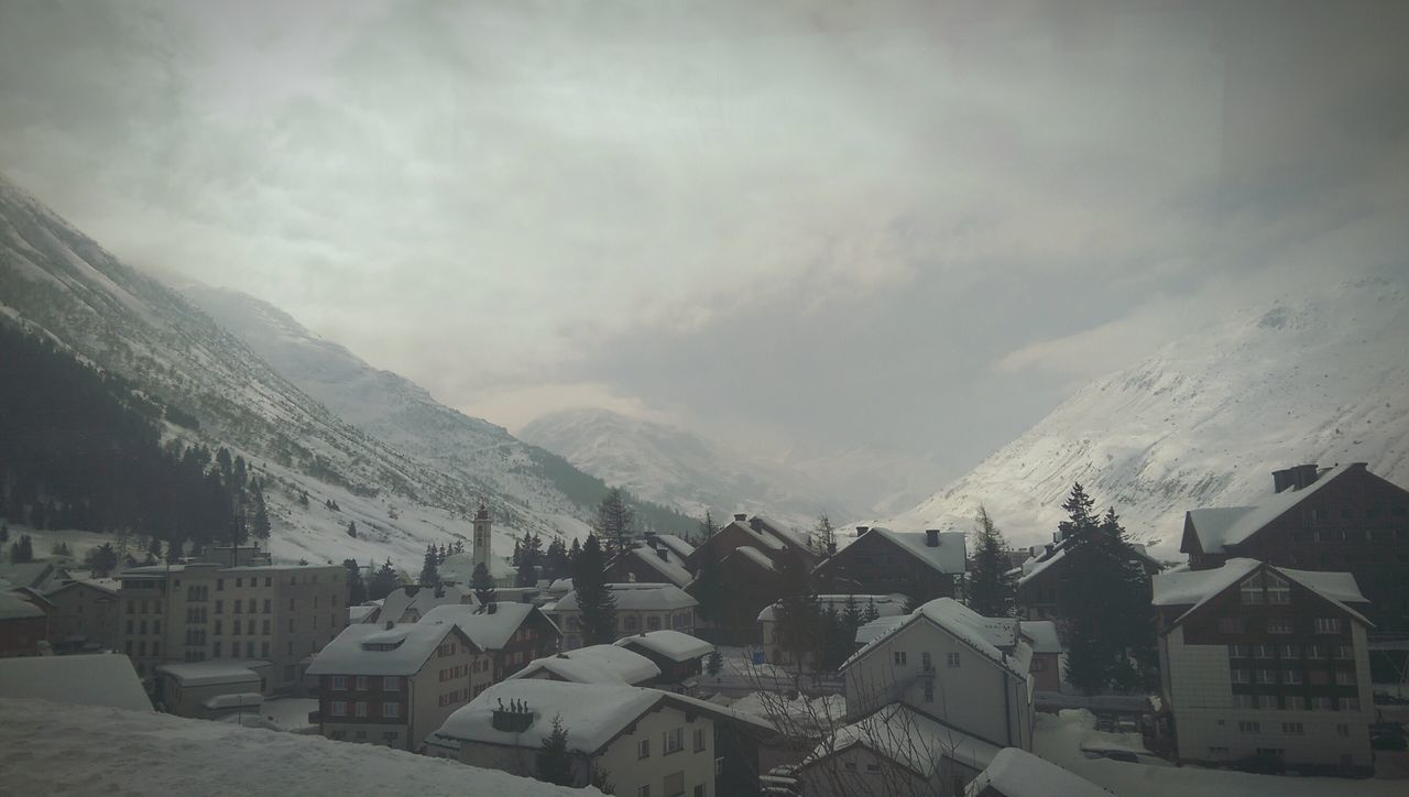Ramdom shot from the train | Glacier Express Train Switzerland_2016 Snow Covered Village View Winter Taking Photos Nature_collection Train Window Cold Days Cold Weather