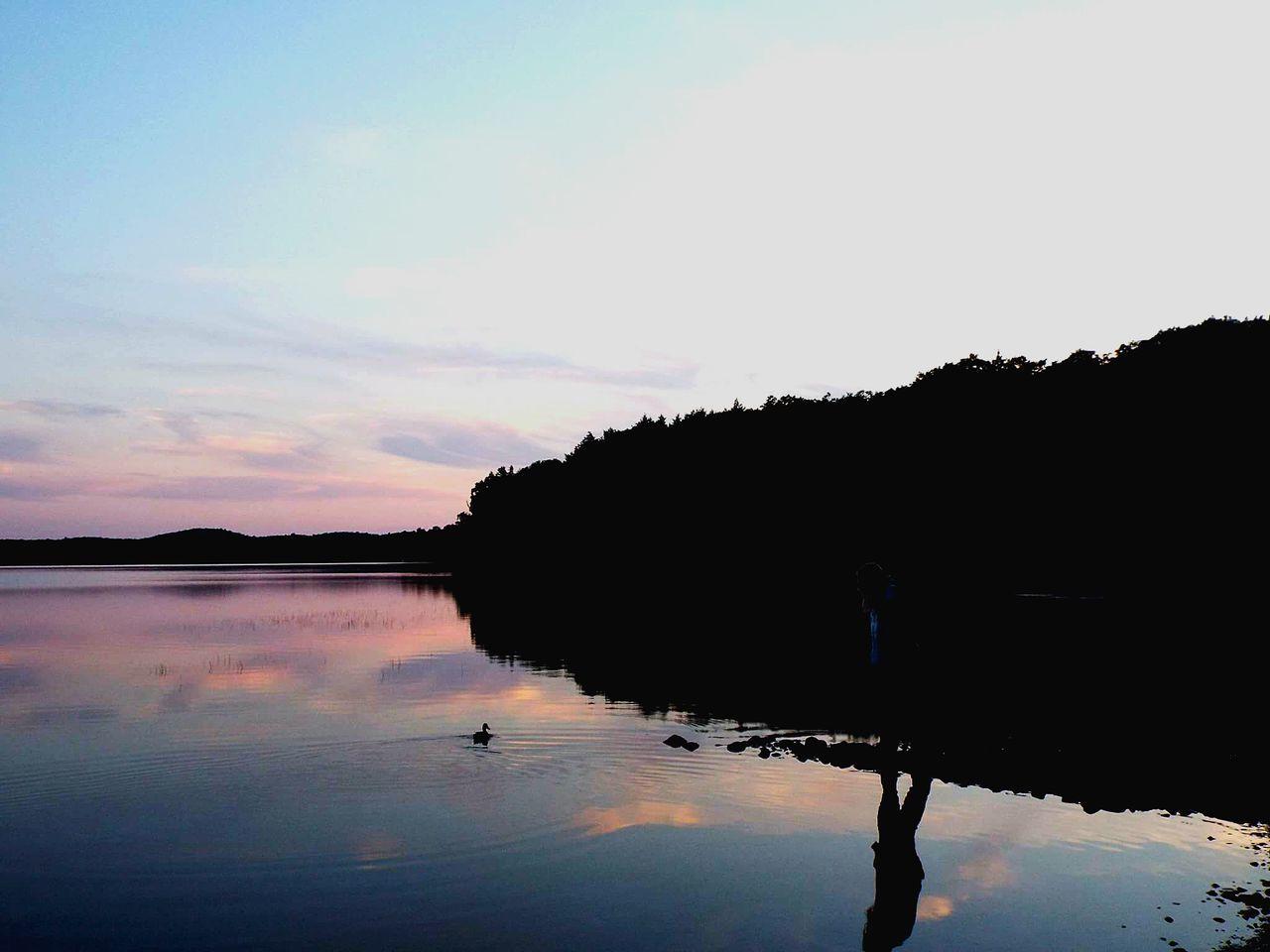 Duck Lake Water Algonquin Park Algonquinprovincialpark Sunset Sun