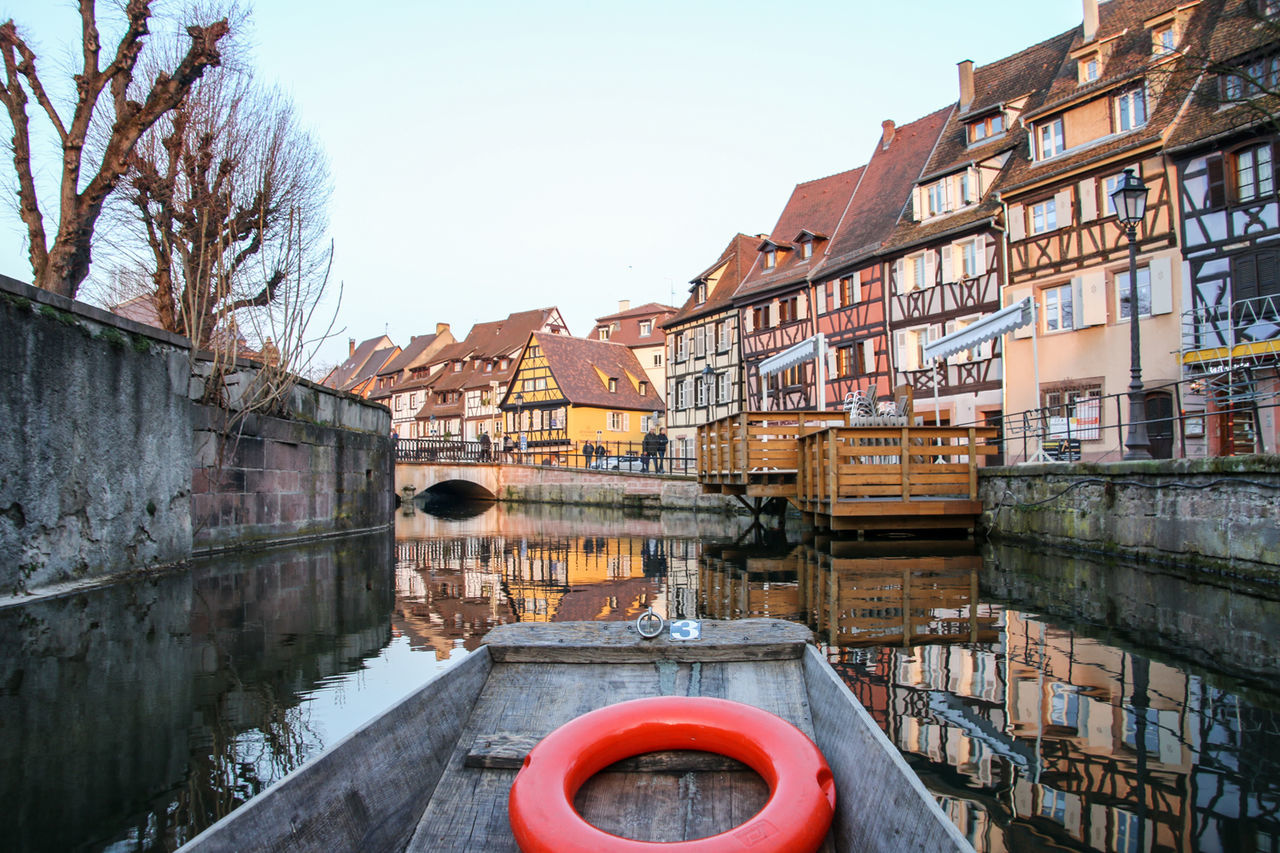 Architecture Building Exterior Built Structure City Citytrip Colmar Colmar Architecture Colmar France Colmar, Alsace, France Fachwerk Fachwerkhaus France No People Outdoors Reiselust River Timber Frame House Timbered House Traveling Travellover Water Adapted To The City