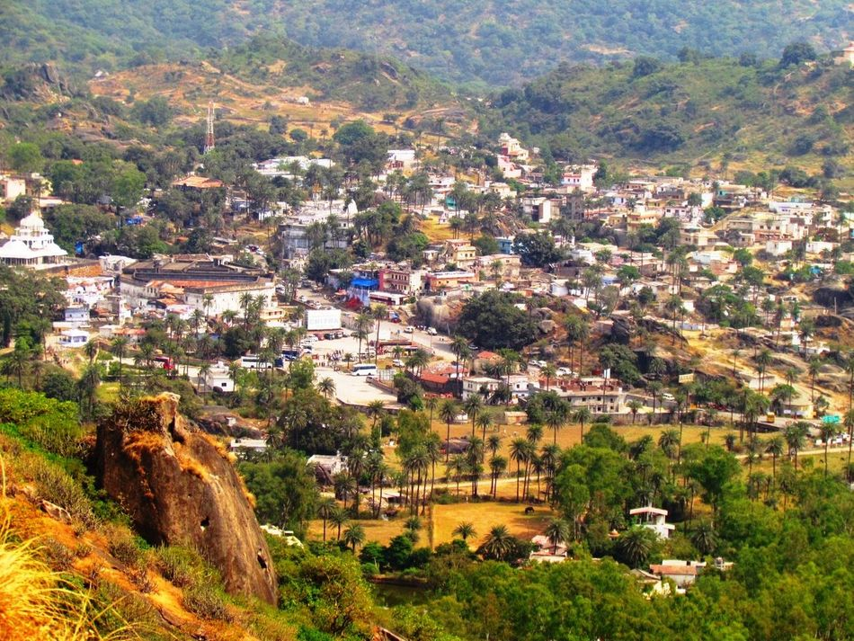High Angle View Travel Destinations No People Cityscape Outdoors Building Exterior Mount Abu Rajasthan, India Village View