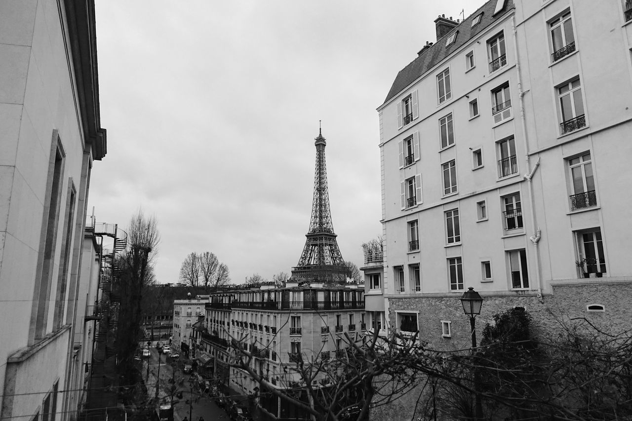 Cloudy//. Architecture Architecture_collection Blackandwhite Building Built Structure City City Life Cityscape Cloud - Sky Cloudy Culture Eiffel Tower Europe Historic Love Old Old Buildings Outdoors Paris Perspective Sky Tower Travel Traveling View