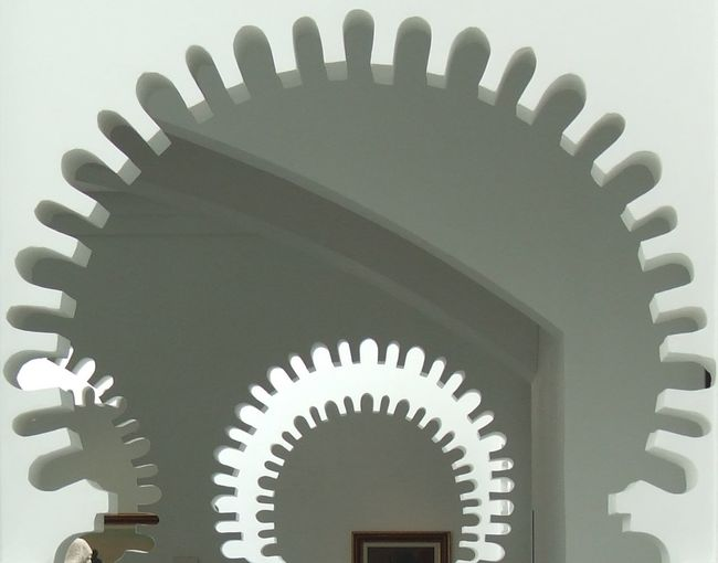 Arabic Architecture Arch Architectural Feature Close-up Design Diminishing Perspective Horseshoe Arch Illuminated In A Row Low Angle View Morrocco No People Part Of Repetition Spiral Tetouan
