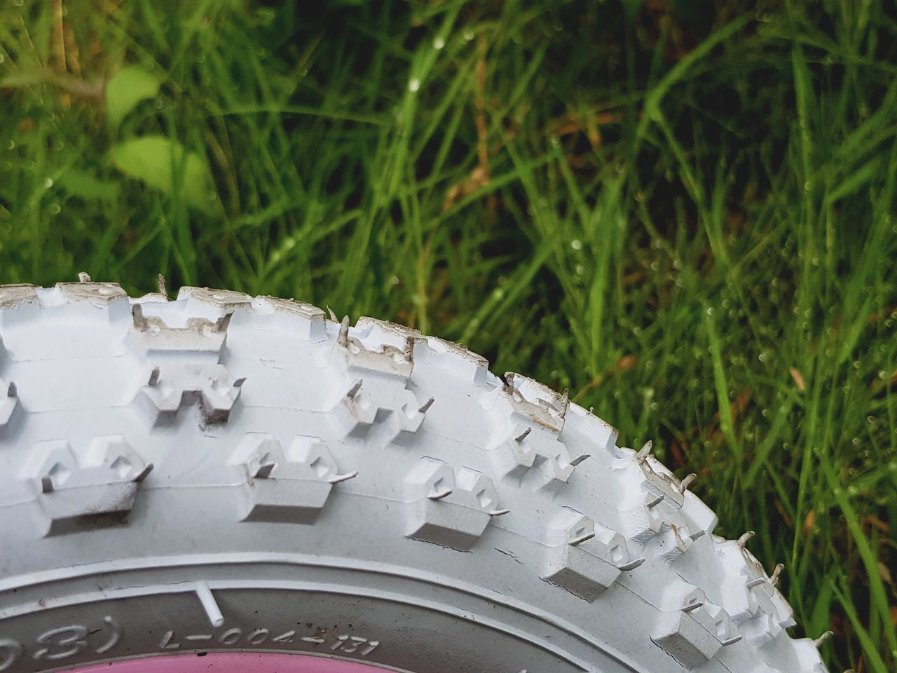 No People Outdoors Grass Day Close-up Childhood Wheel Tyre Tyre White Tyres Children Childs Bike