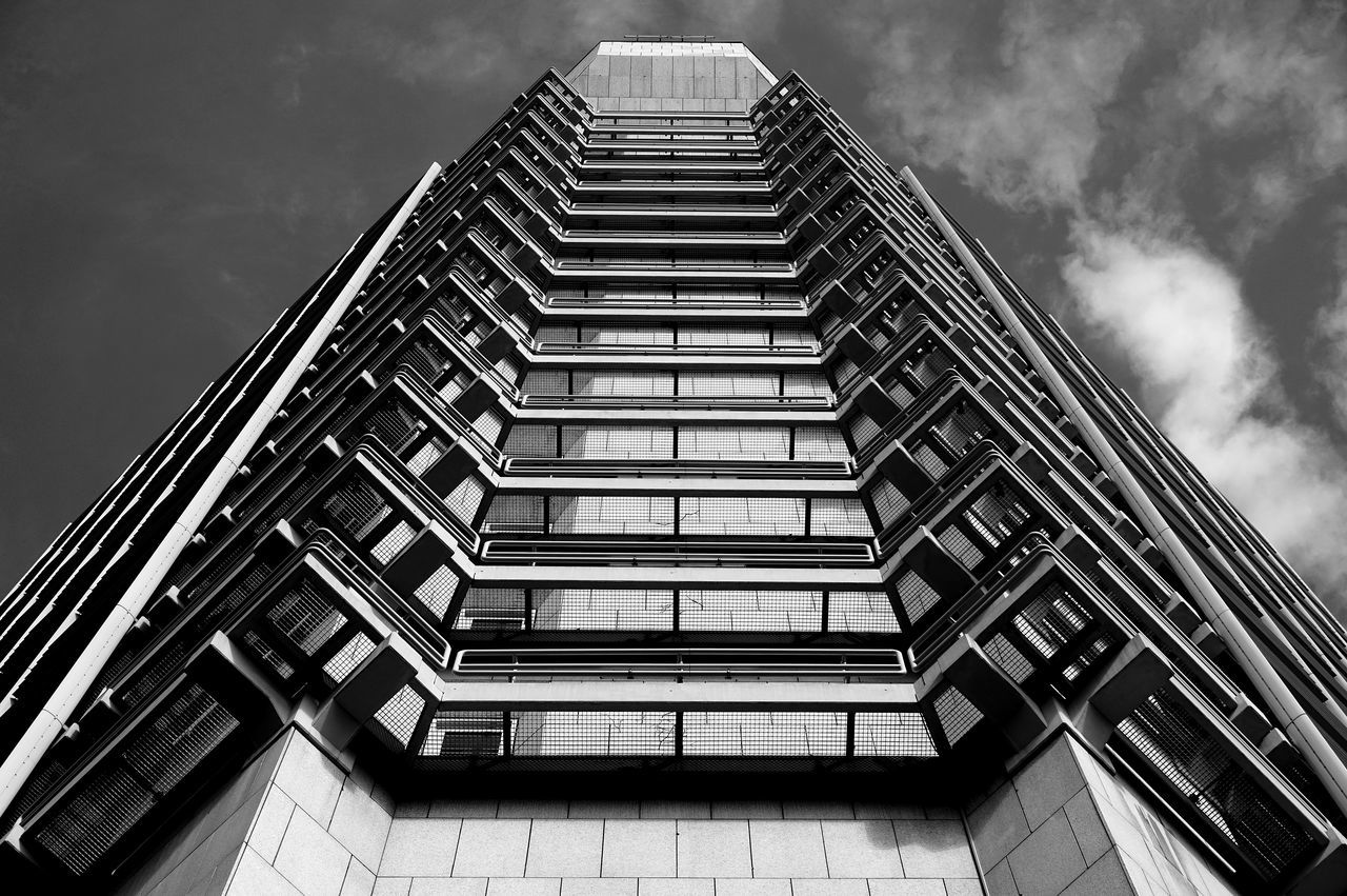 Architecture Blackandwhite Building Exterior Built Structure City Cloud - Sky Façade Low Angle View Modern Sky Skyscraper