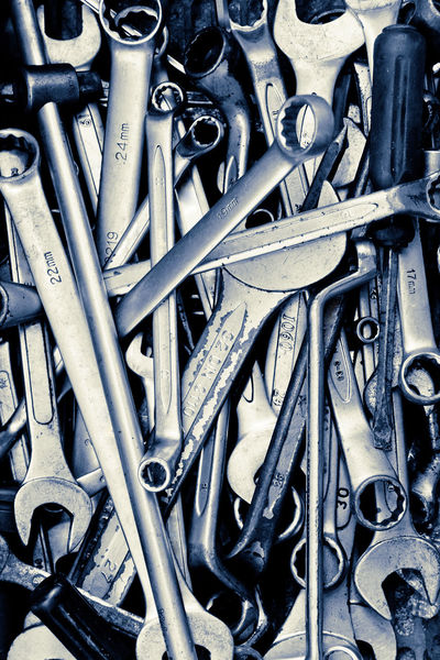 Assorted old hand tools background Auto Repair Shop Backgrounds Close-up Day Full Frame Garage Hand Tools Maintain Maintenance No People Tool Background Tool Box Tool Kit Tools