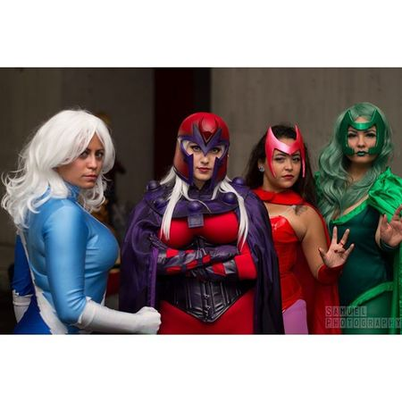 Magneto Quicksilver ScarletWitch Polaris Magnetocosplay Quicksilvercosplay Scarletwitchcosplay Polariscosplay Genderbend Xmencosplay Cosbabes Cosplayphotogtraphy Cosplay Newyorkphotography NYCC NYCC2015 Nycc15 Comiccon Newyorkcomiccon