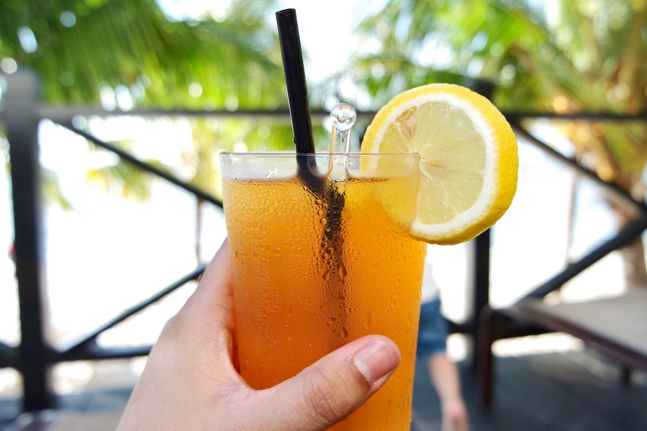 The Essence Of Summer Holiday Icedlemontea Drink Summer Enjoying Life Sunny Relaxing Sea Blue Sky Enjoying The Sun Sunny Day Vacation