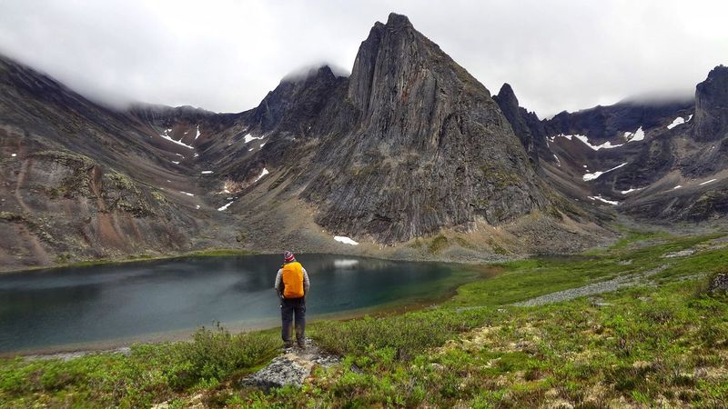 Tombstone Territorial Park Arctic Tombstone Dawson Mountain Real People Rear View Hiking Beauty In Nature One Person Scenics