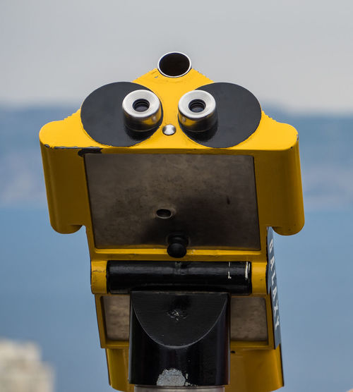 Paint The Town Yellow Marseille Close-up Coin-operated Binoculars Day No People Outdoors Yellow