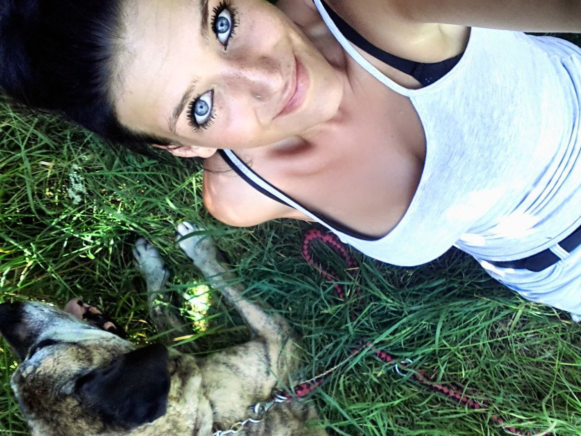 Hello World Hi! That's Me Relaxing Taking Photos Check This Out Enjoying Life Summertime Green Grass Happy Girl Blue Eyes Eyes Are Soul Reflection Chill Out With My Dog Dog❤ Fila Brasileiro Hot Day Sunshine Sensual_woman Eyemphotography Selfie ✌ Eyem Best Edits Eyem Gallery Eyem Selfie Pretty Woman