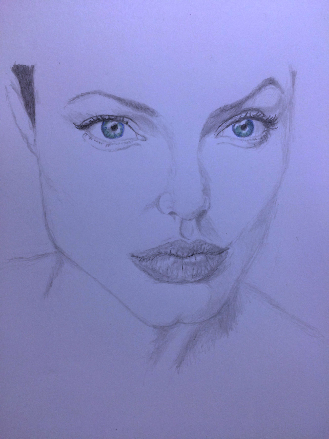 Drawing ArtWork Hello World Art, Drawing, Creativity Angelina Jolie アンジー アンジェリーナジョリー
