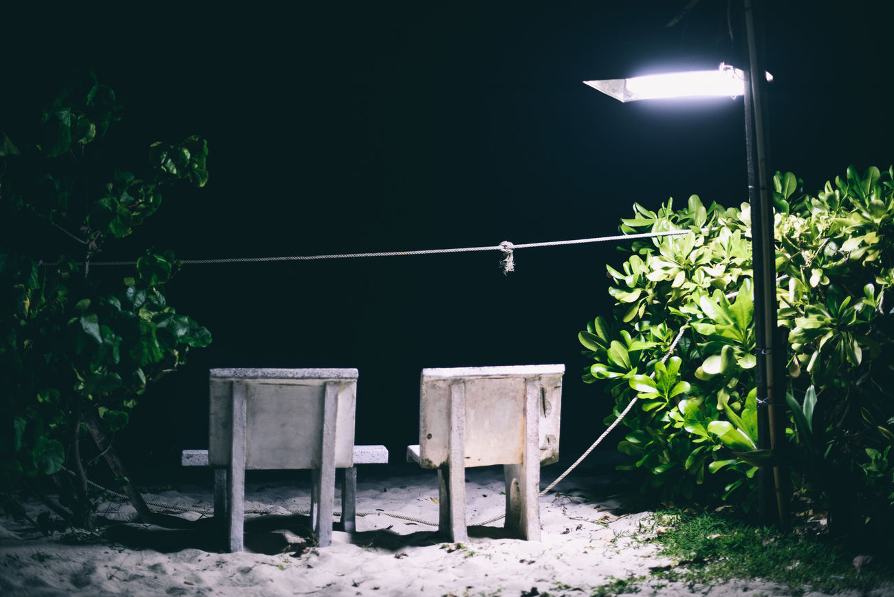 D800 Light Lonely Night Nikon No People Outdoors Romance Seat Thai Thailand