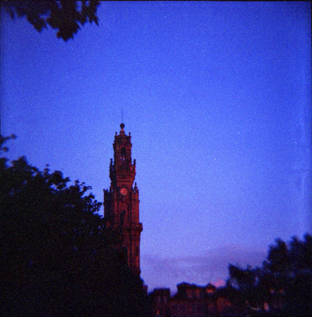 120 Film 75mm Architecture Blue Diana F+ Joseoliveira No People Outdoors Photography Portugal Tree Vignette
