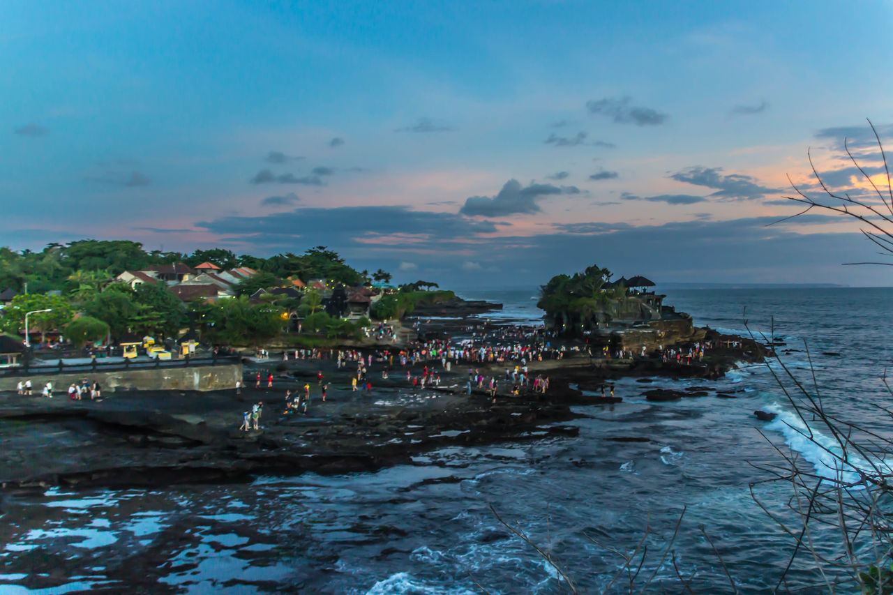 Landscape Outdoors Beach Sea Nature Sky Tanha-lot People And Places Tourist Attraction  Temples Oceanside Baliphotography Bali, Indonesia