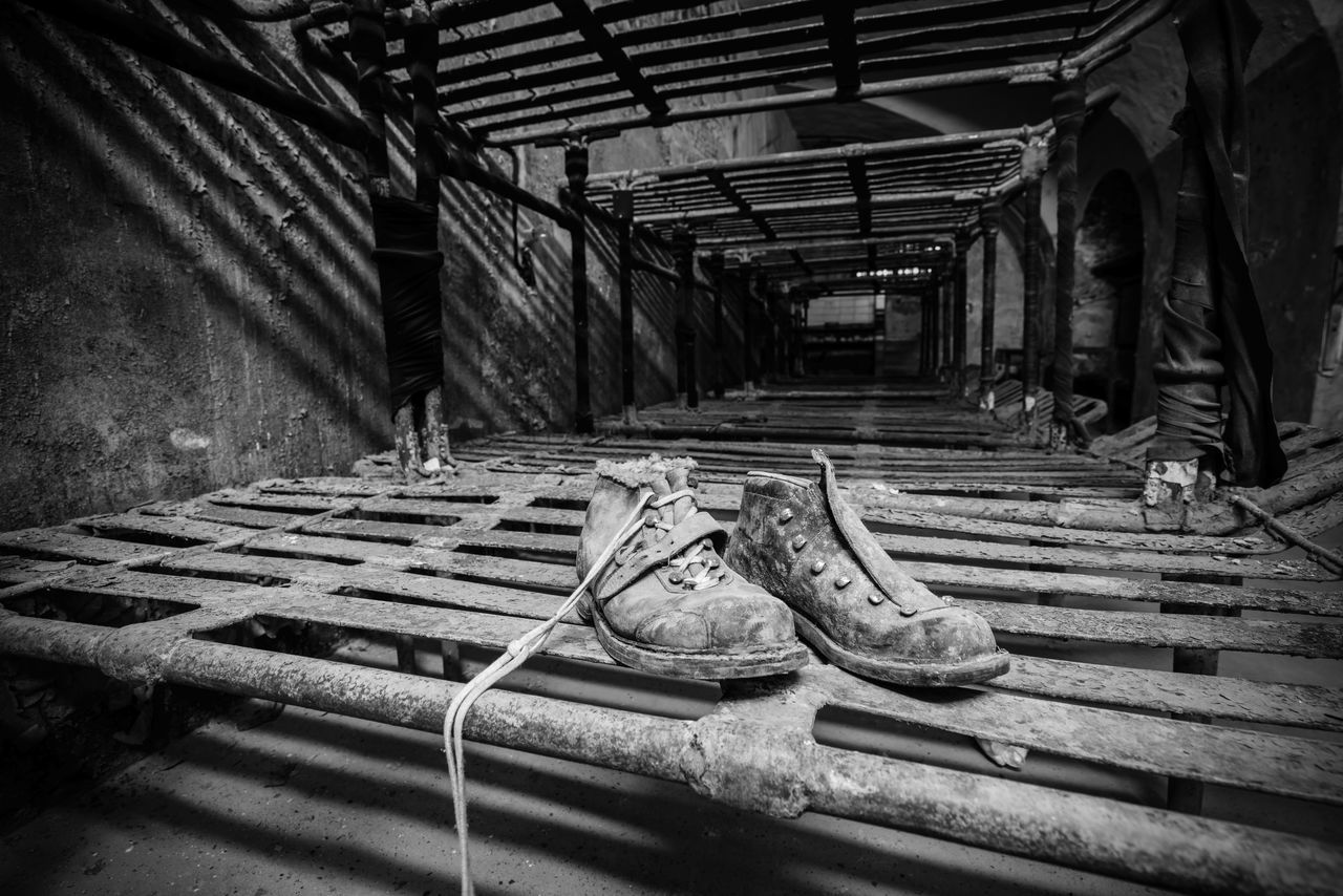 Lost & Found Abandoned Abandoned Buildings Abandoned Places B&w Blackandwhite Boots Depth Of Field Derelict Deterioration Diminishing Perspective Empty Estonia Europe Exploring Focus On Foreground Mono Monochrome Old Patarei Prison Shoes Soviet Tallinn Urbex Urbexphotography