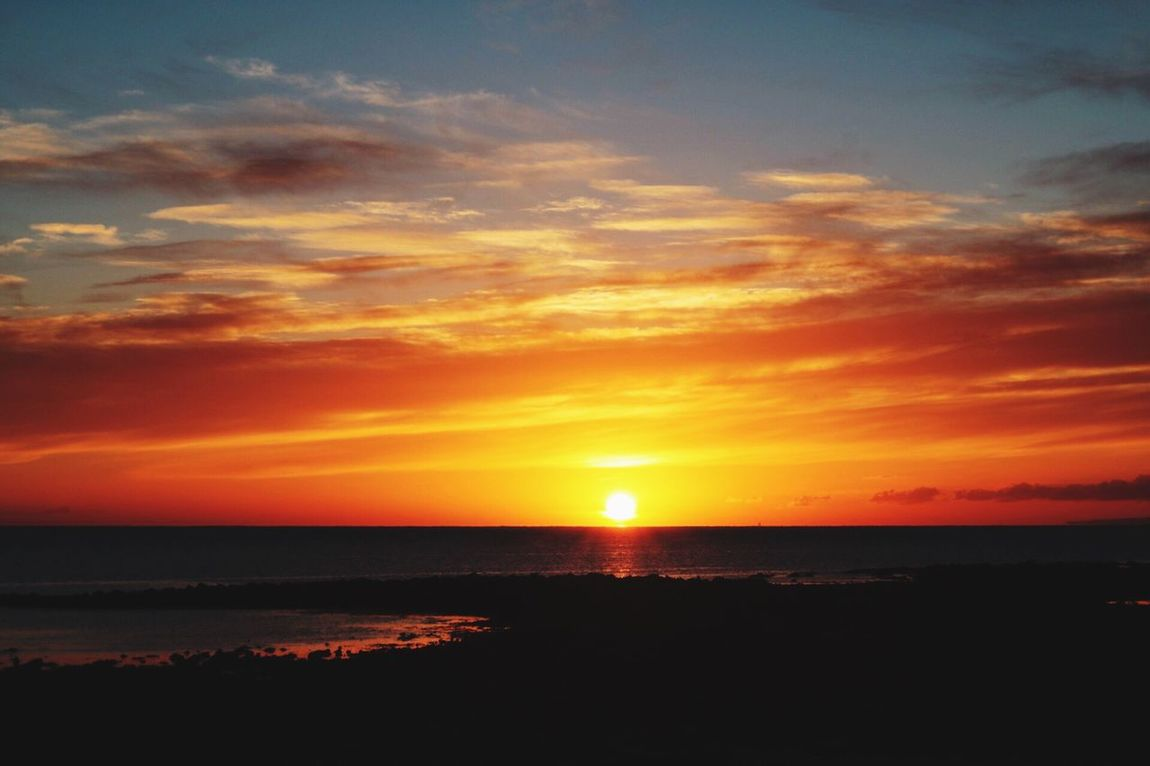 Sunset at Port Eynon Sunset Sea Beauty In Nature Orange Color Nature Water Scenics Sky Tranquility Horizon Over Water No People Sun Tranquil Scene Outdoors The Gower The Great Outdoors The Gower In Beautiful Wales Sand Beauty In Nature Beach Tranquility