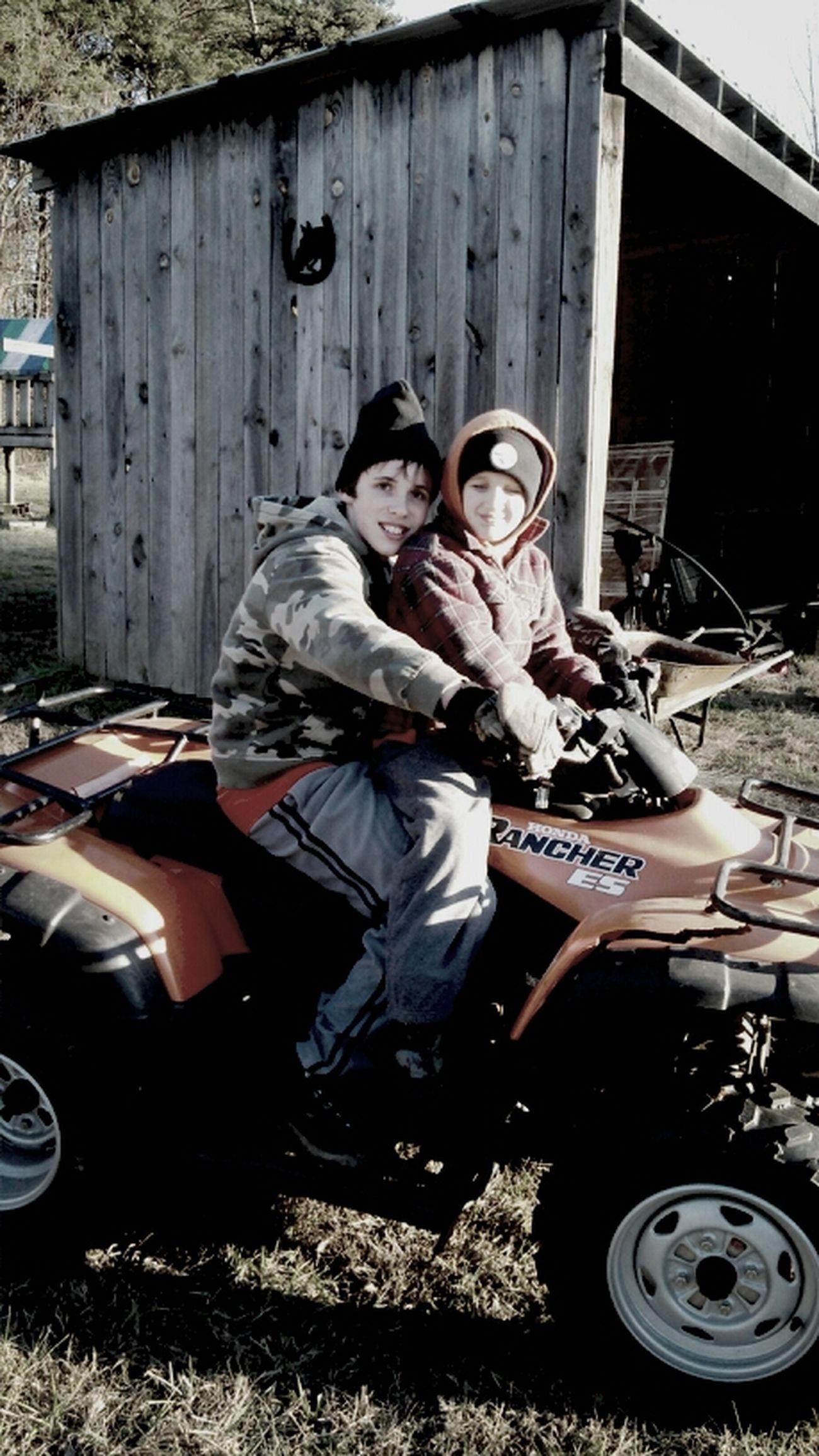 Riding Fourwheelers