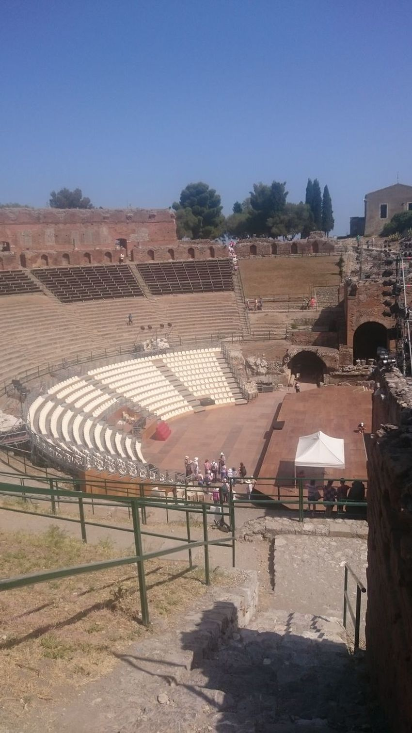 Taormina Teatro Antico Di Taormina Outdoors Stadium People