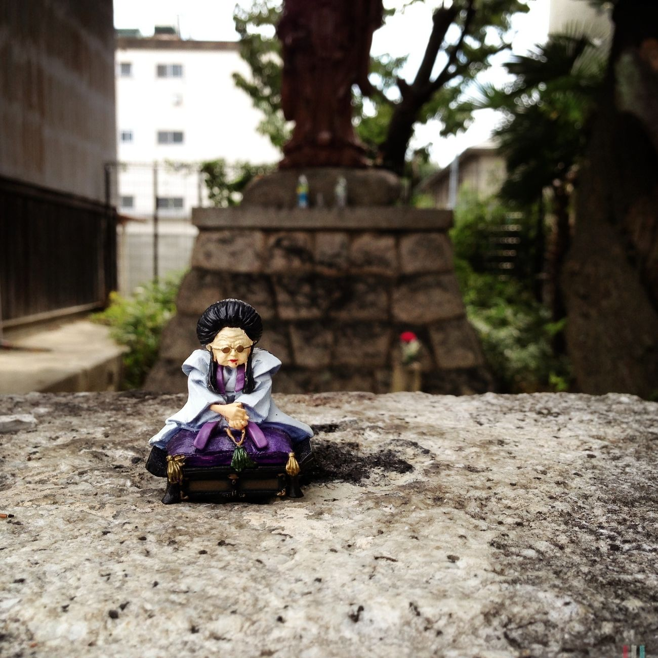 creepy toy left at the temple Japan IPhoneography Hipstamatic Shrines & Temples