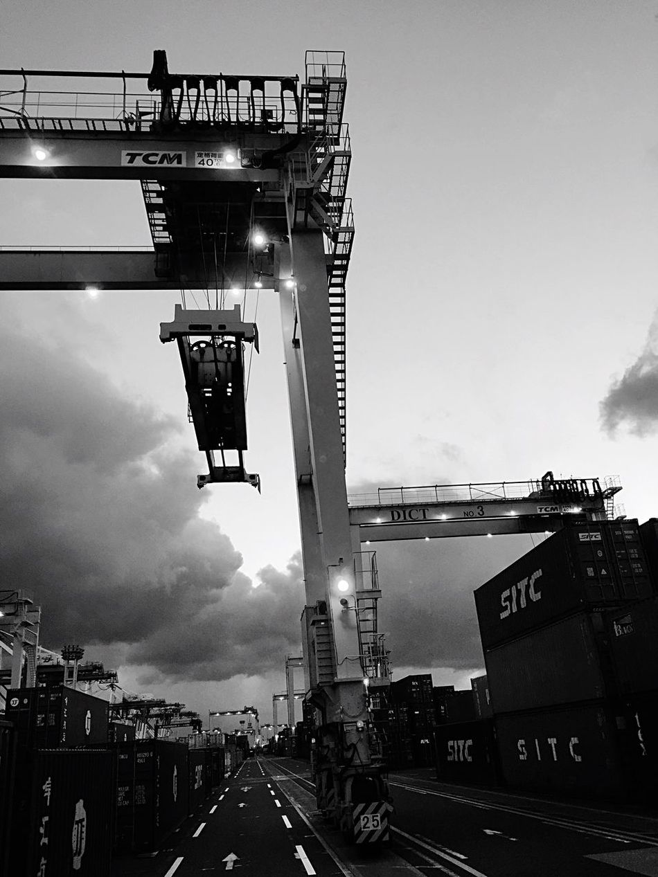 EyeEm Blackandwhite Eye Em Around The World Hanging Out Crane Truck Career Container EyeEm Gallery Black And White EyeEmBestPics Monochrome EyeEm Best Shots