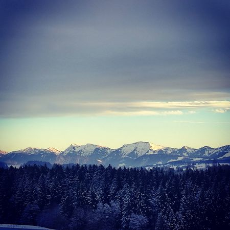 Mountain, Landscape Winter Snow Westallgäu Outdoors Nature No People Lost In The Landscape