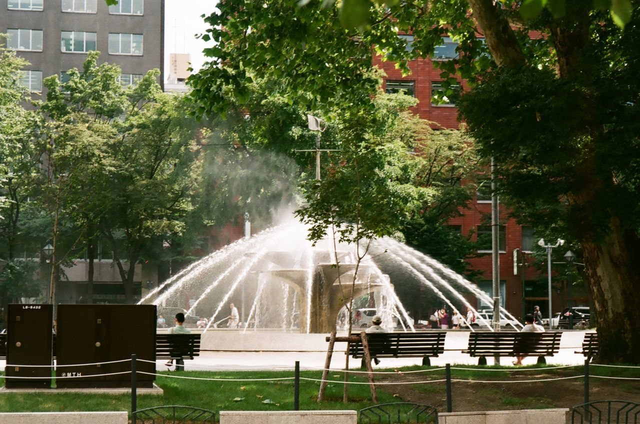 Fountain in Odori Park Summer Vibes Sapporo Japan t