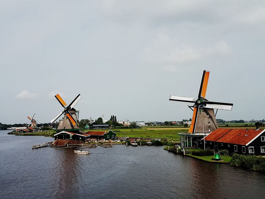 Wind Power Wind Turbine Day Alternative Energy No People Traditional Windmill Technology Windmill Outdoors Sky Manufacturing Equipment Oil Pump Zaanse Schans Building Exterior Travel Photography Travel Capture The Moment Windmill Wind Power Travelling