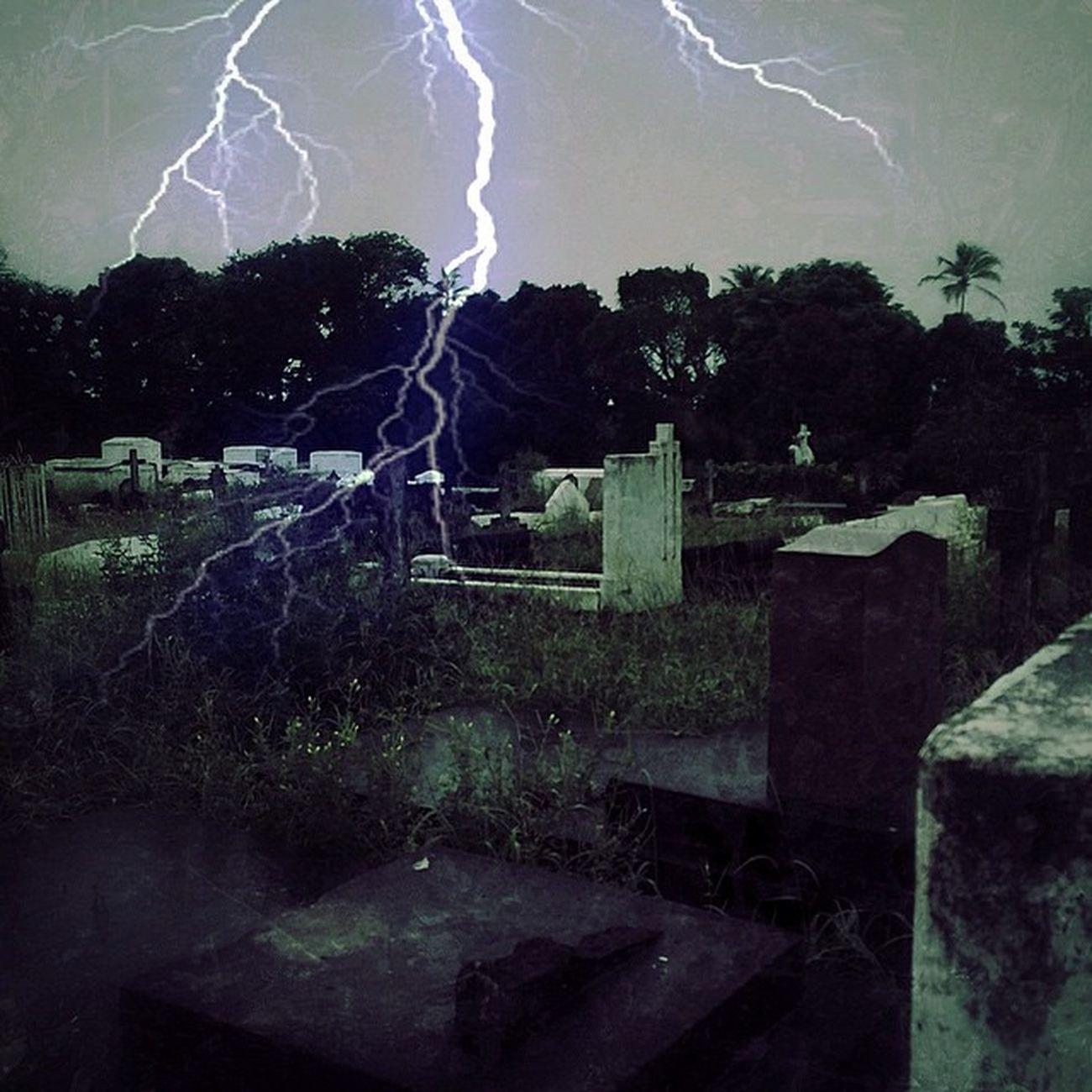 Graveyard Cemetery Grenada Spooky Lightning Caribbean_beautiful_landscapes Westindies_landscape Insta_noir Icu_puertorico Ig_martinique Ig_caribbean Shutterbug_collective Editgram Instagram