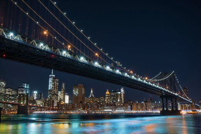 Night Lights Nightphotography Night Long Exposure Slow Shutter NYC NYC Photography City Manhattan Manhattan Bridge Brooklyn Bridge / New York Brooklyn New York New York City