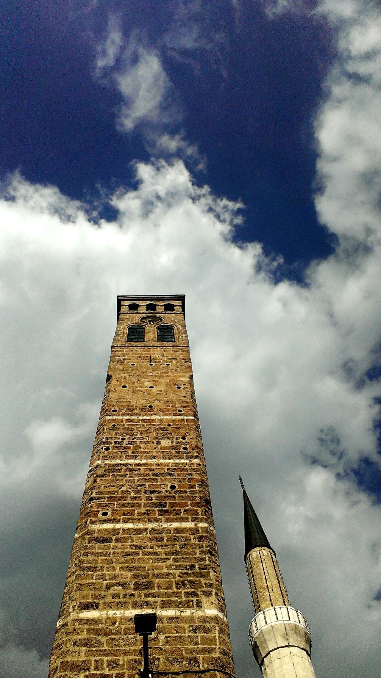 Sarajevo Sarajevobosnia Oldtown Bascarsija Watchtower Mosque Sky Sunny Day Stopandlookaroundyou