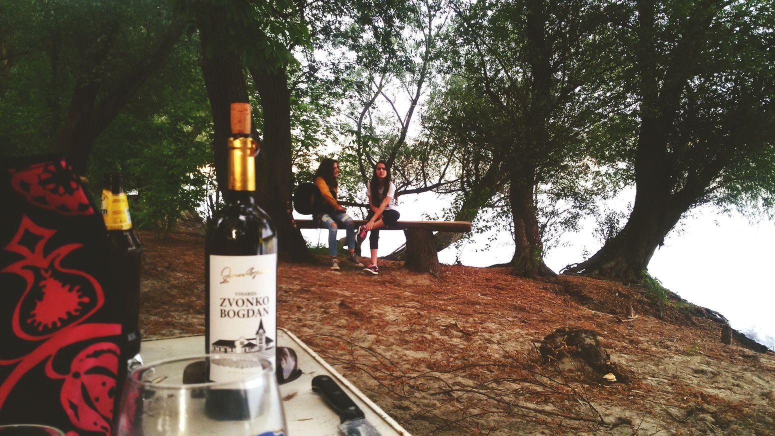 Wine Naturelovers Girls Guitarist Blue Danube Hugging A Tree Enjoying Life