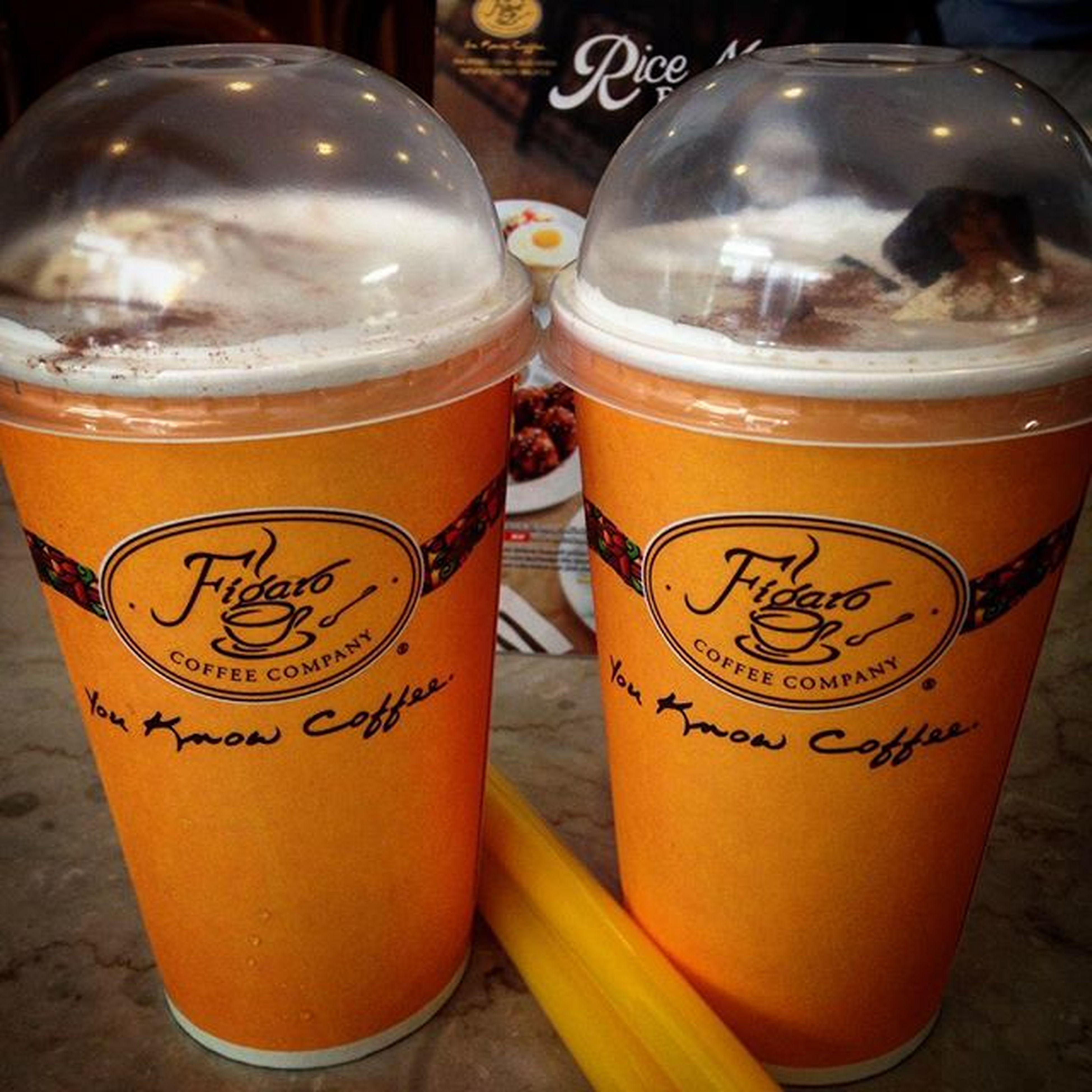 11/02/2015 Figaro Blissfulholiday Hazelnutcinnamonjellyfloat @figarocoffee